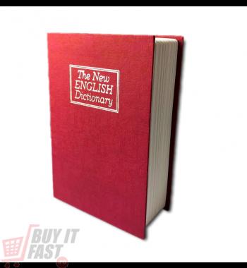 Casetă valori  MINI Booksafe rosu 11 cm